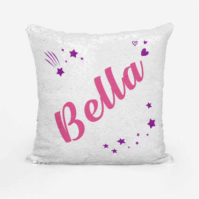 custom sequin pillow personalized mermaid pillow
