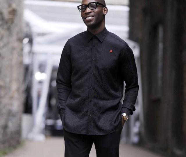 Mens Street Style Tinie Tempah Black Shirt Black Jeans