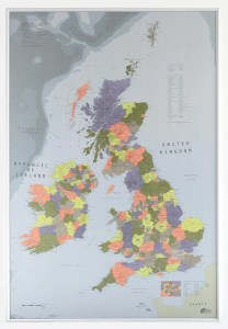 Buy Maps of Great Britain and Ireland   Mapworld British Isles Map  Version 2  700 x 1000mm Laminated