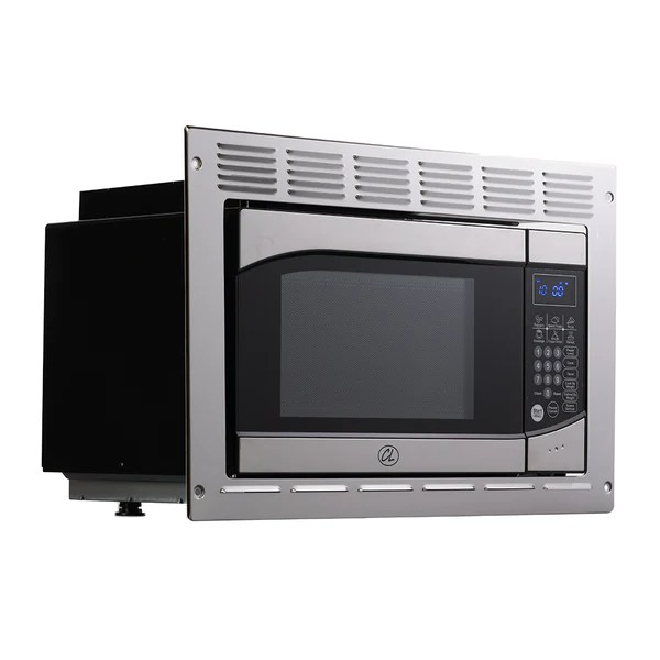 tough grade rv camper microwave 9 cuft with trim kit stainless steel
