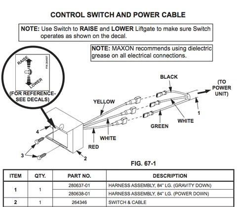 Maxon Tuck Under Raise Lower Switch 264346 – LiftGateMe