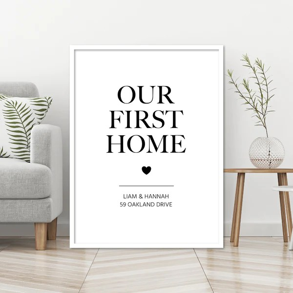 Personalised New Home Prints Personalised Housewarming Gifts New House Prints Signs Modiprints