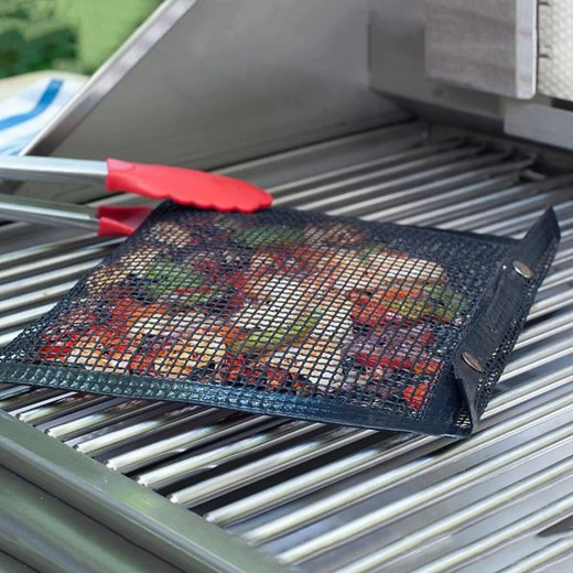 1PC Reusable Non-Stick BBQ Mesh Grilling Bag Mat Pad Baking Sheet Meshes Portable Outdoor Picnic Cooking Barbecue Mat Tool A