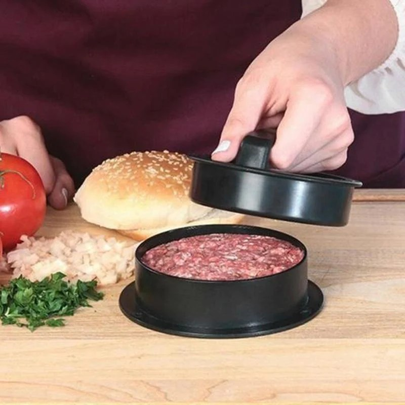 12.5cm  Round Shape Hamburger Press Stainless Steel  Hamburger Meat Beef Grill Burger Press Patty Maker Mold