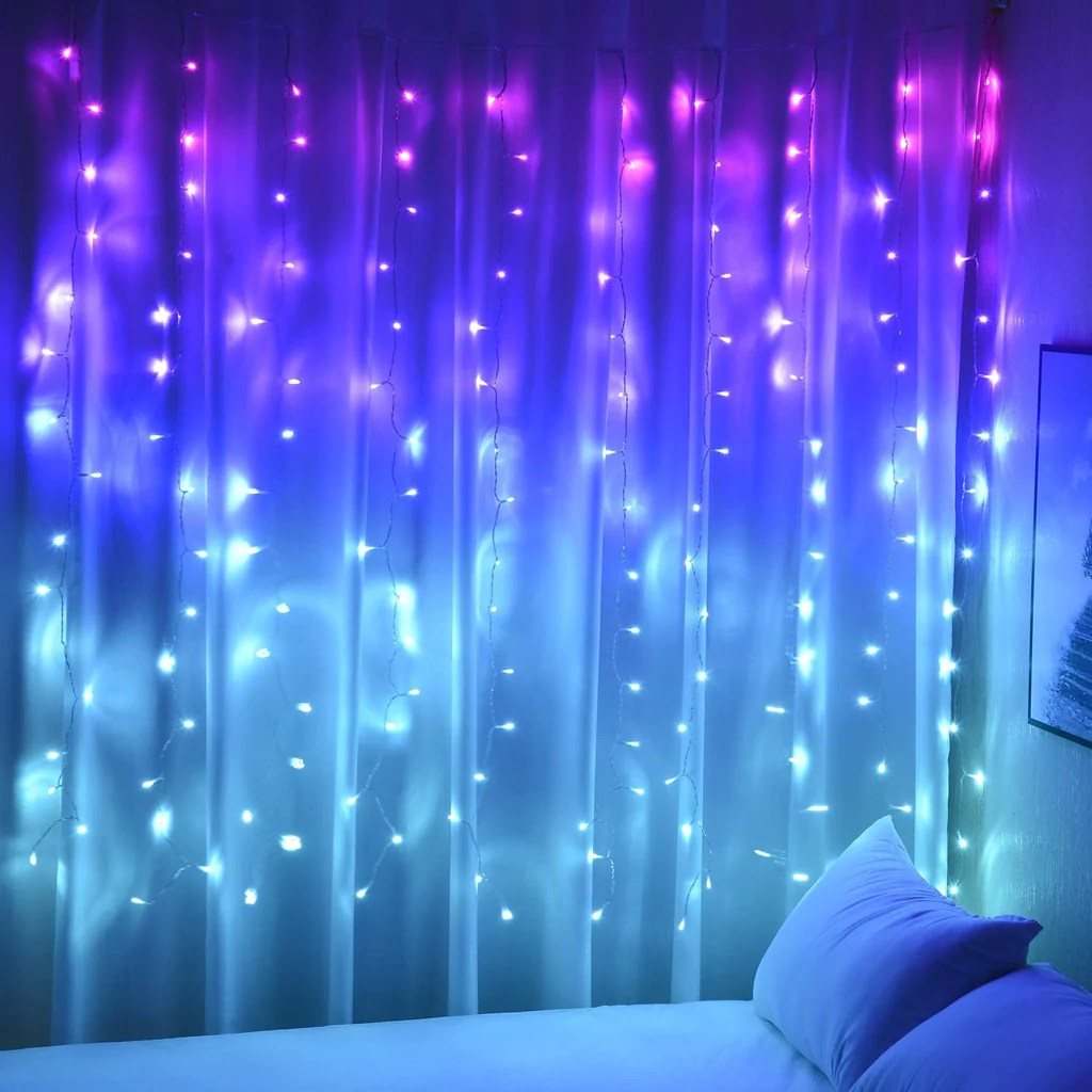 curtain lights hanging fairy lights for