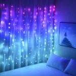 Curtain Lights Hanging Fairy Lights For Girls Bedroom Wall Tapestry Un Dukakeen Com