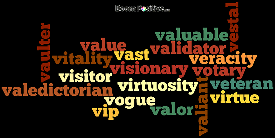 Positive Nouns That Start With V Quot Letter V Naming Words
