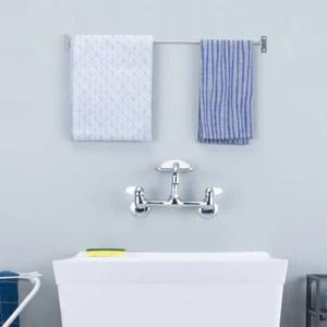 wall mounted chrome finish utility sink