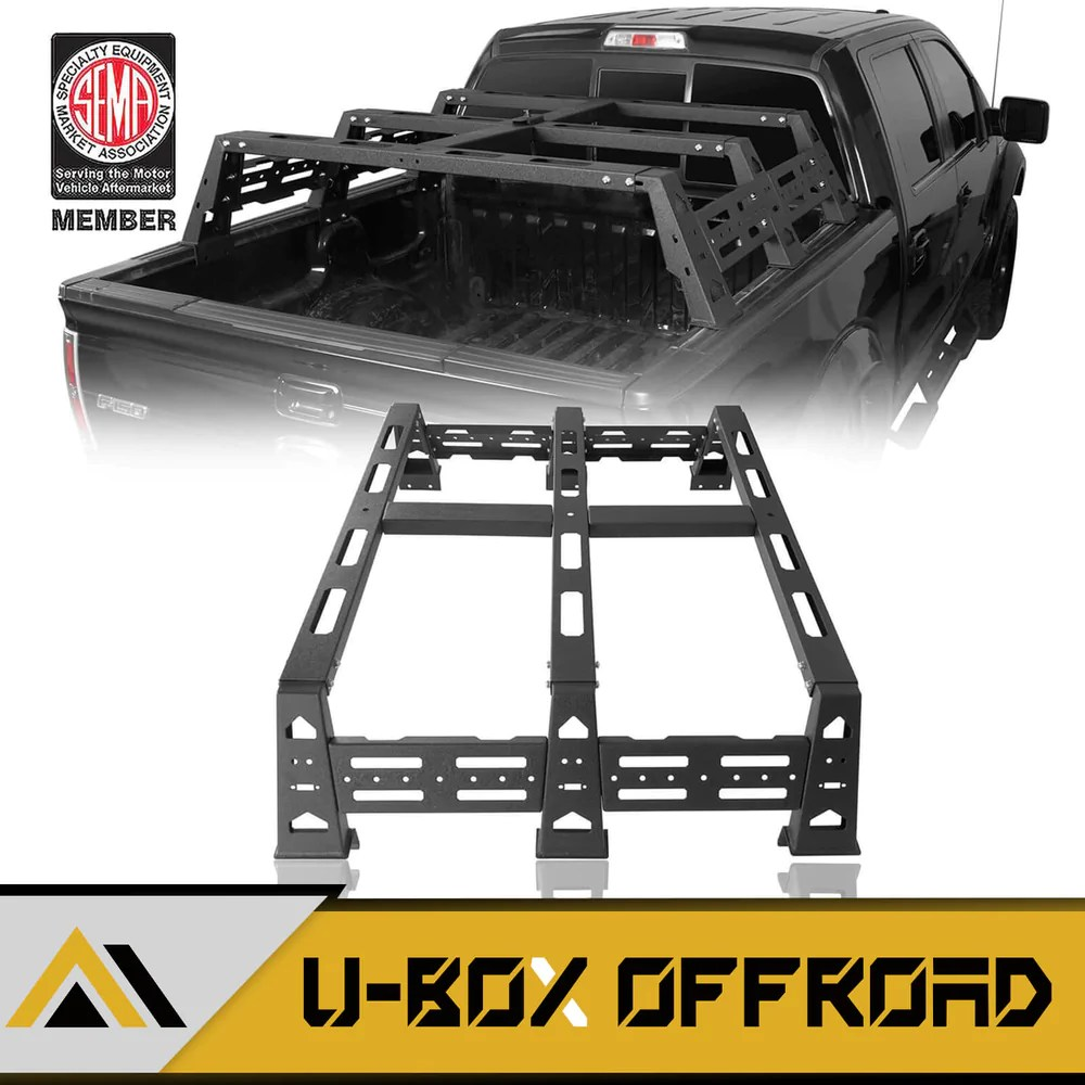 12 9 inch high bed rack 09 14 ford f 150 raptor