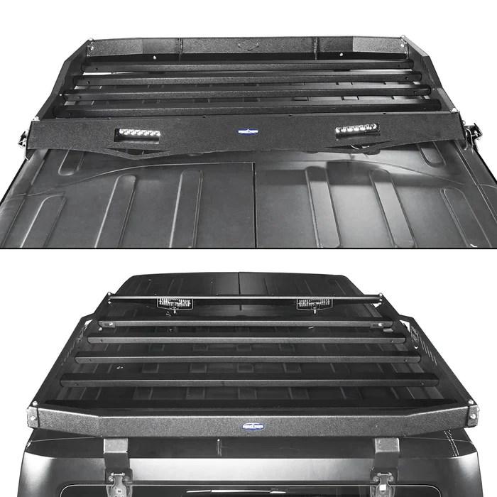 hard top rear roof rack cargo carrier basket 07 18 jeep wrangler jk 4 doors