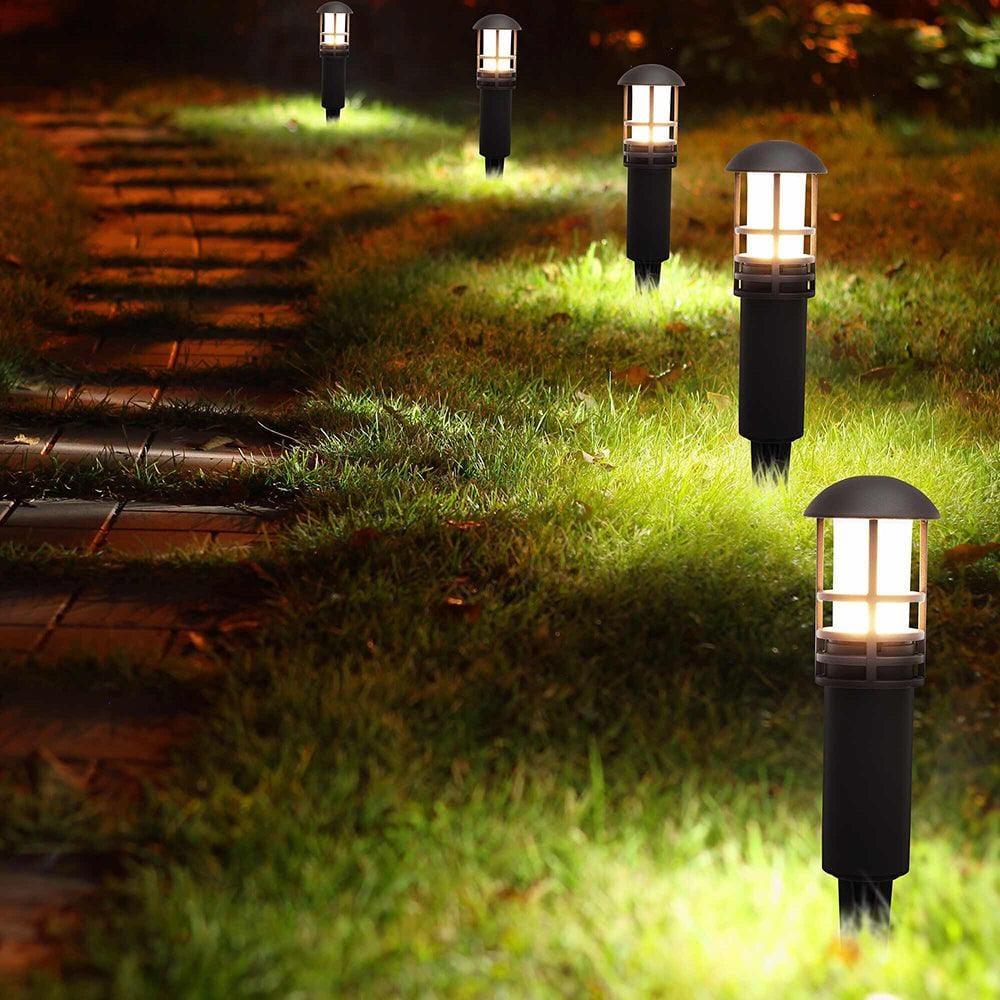 cd55 bronze low voltage led bollard path light outdoor landscape lighting