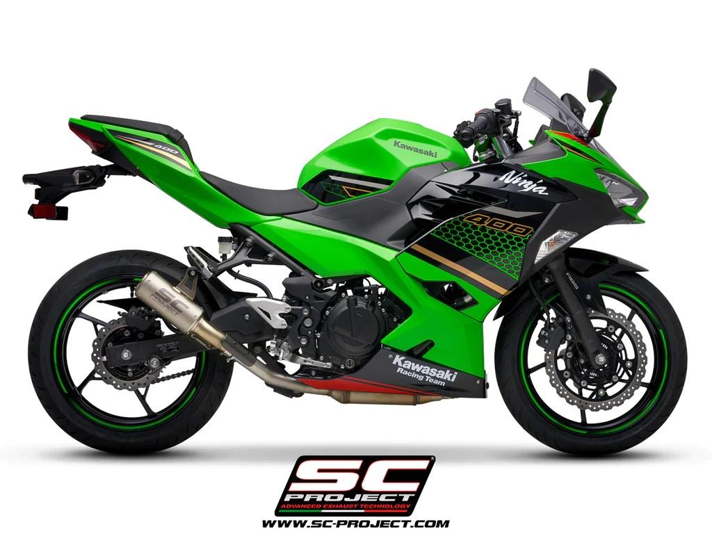 sc project cr t slip on exhaust for kawasaki ninja 400