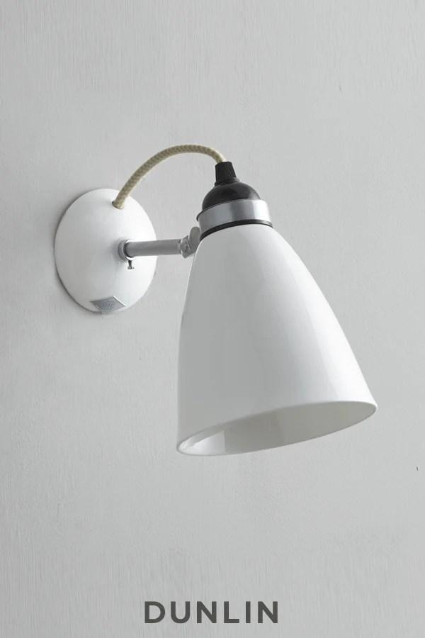 original btc hector bone china dome wall light white