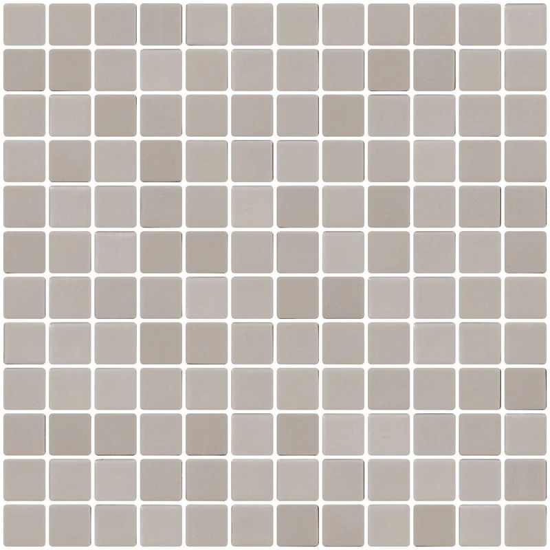 1 inch concrete gray recycled glass tile