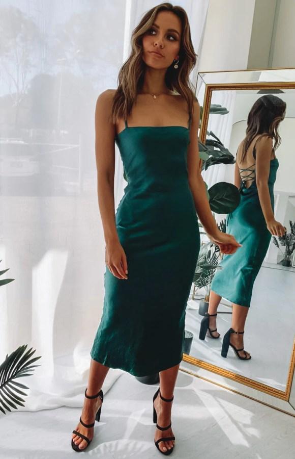 Amaryllis Dress Emerald
