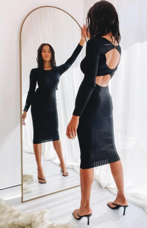 Baptiste Knit Dress Black