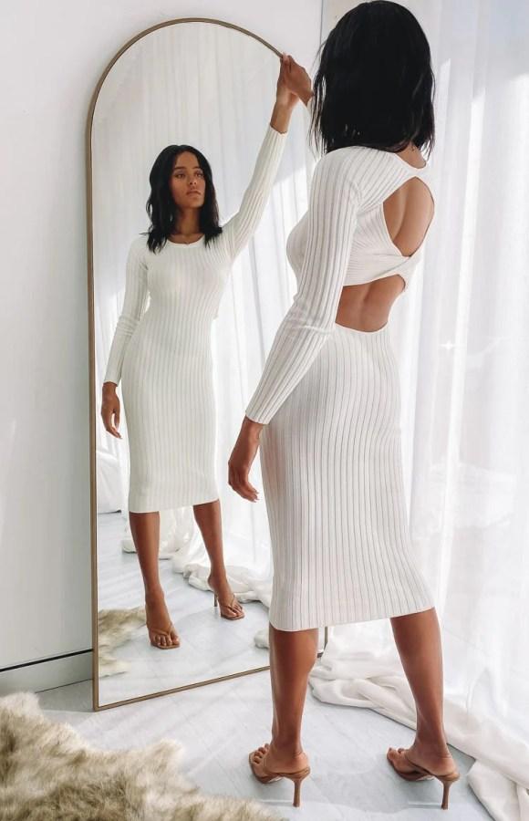 Baptiste Knit Dress Cream