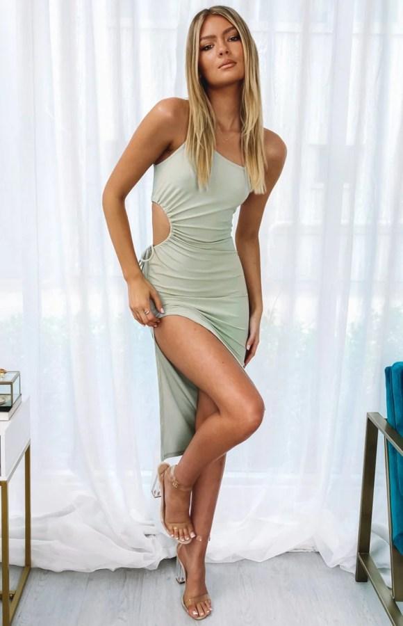 Brilliance Midi Dress Sage