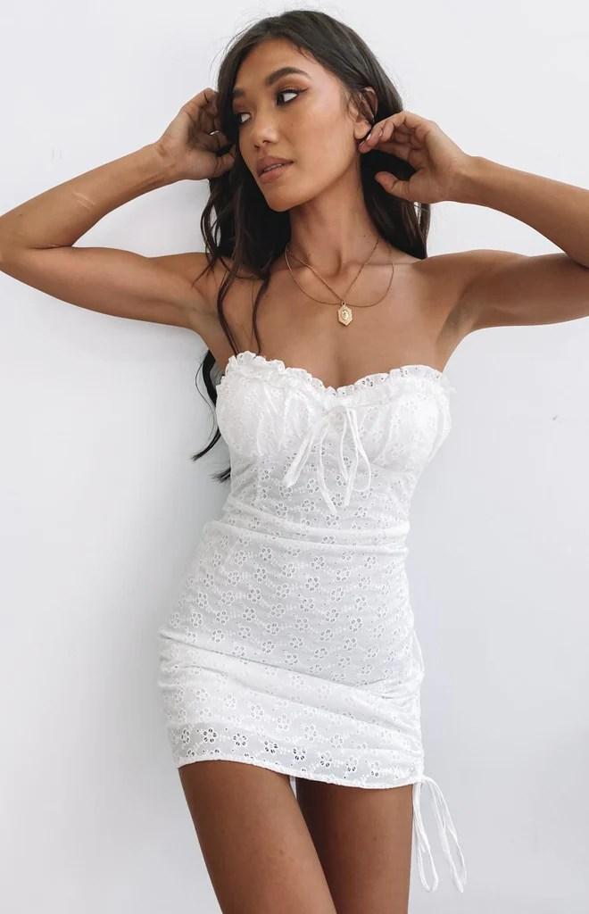 City Break Mini Dress White 6