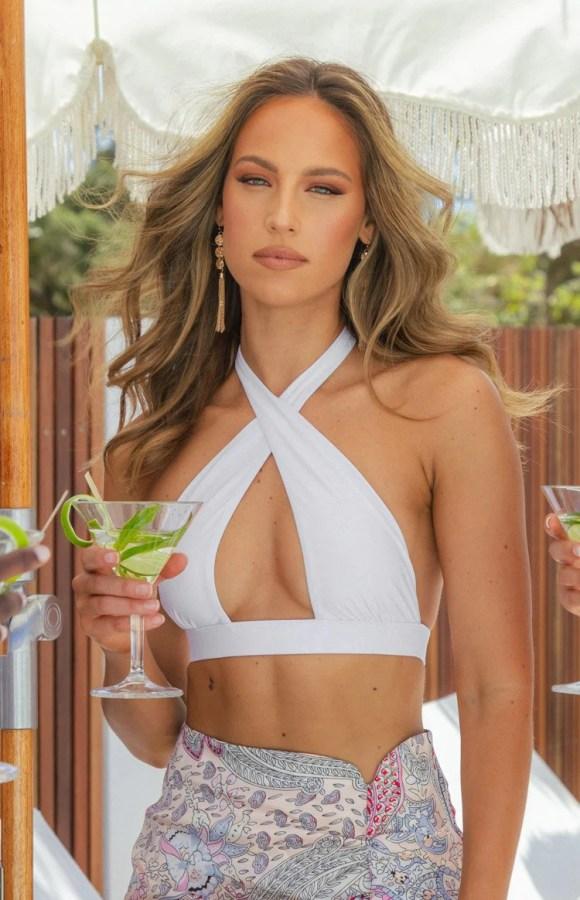 9.0 Swim Cola Bikini Top White