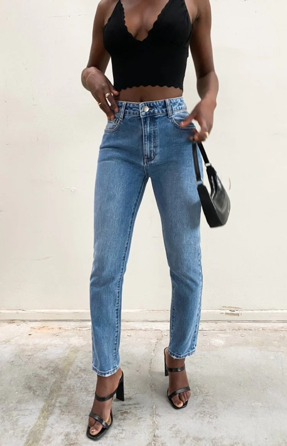 Cool Girl Denim Jeans Blue