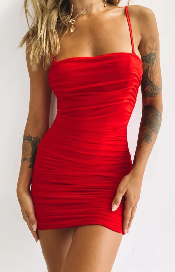 Crazy in Love Dress Red 34
