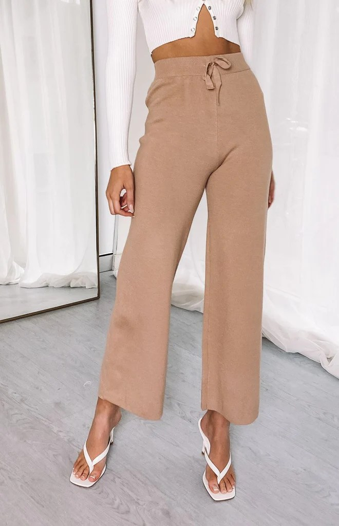 Diaz Knitted Pants Mocha 3
