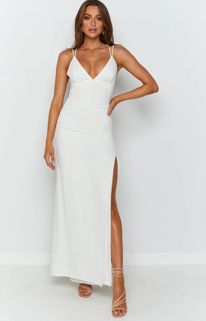 Giovanni Formal Maxi Dress White 4