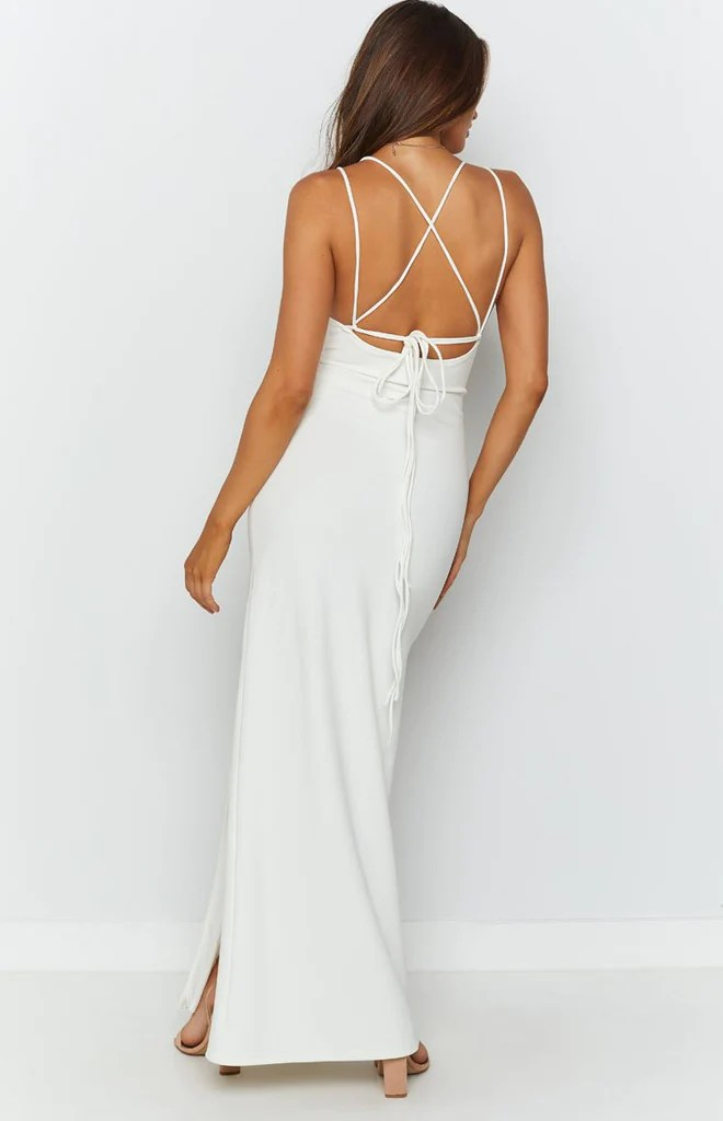 Giovanni Formal Maxi Dress White 7