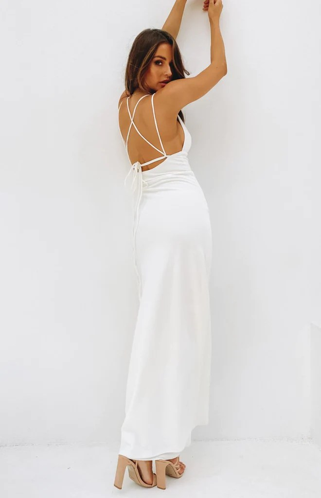 Giovanni Formal Maxi Dress White 3