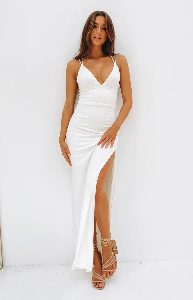 Giovanni Formal Maxi Dress White 2