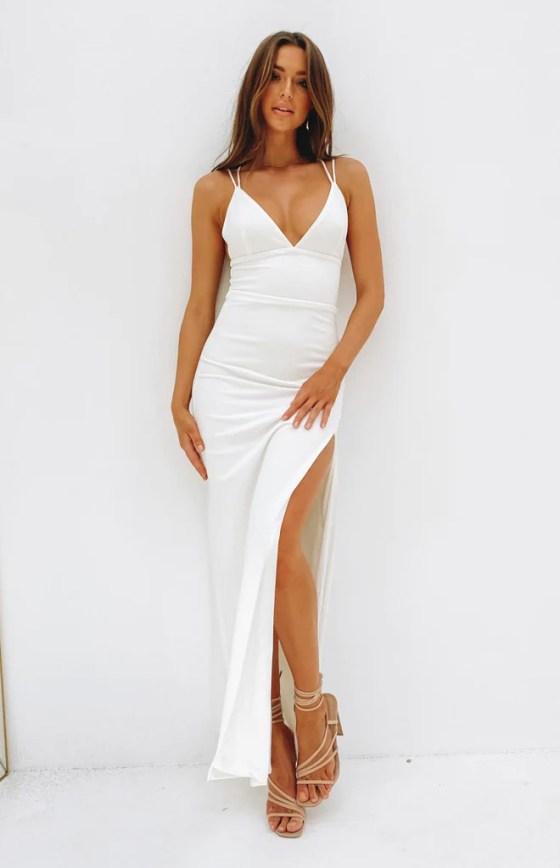 Giovanni Formal Maxi Dress White 21