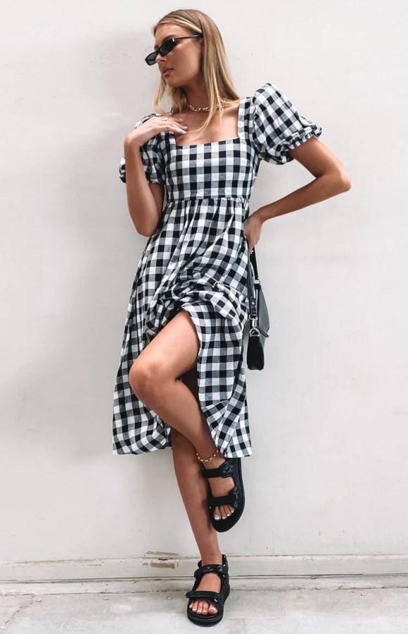 Gracious Midi Dress Gingham