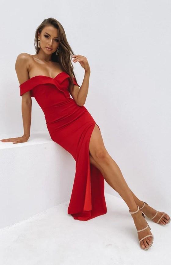 Lizzy Formal Dress Red 11