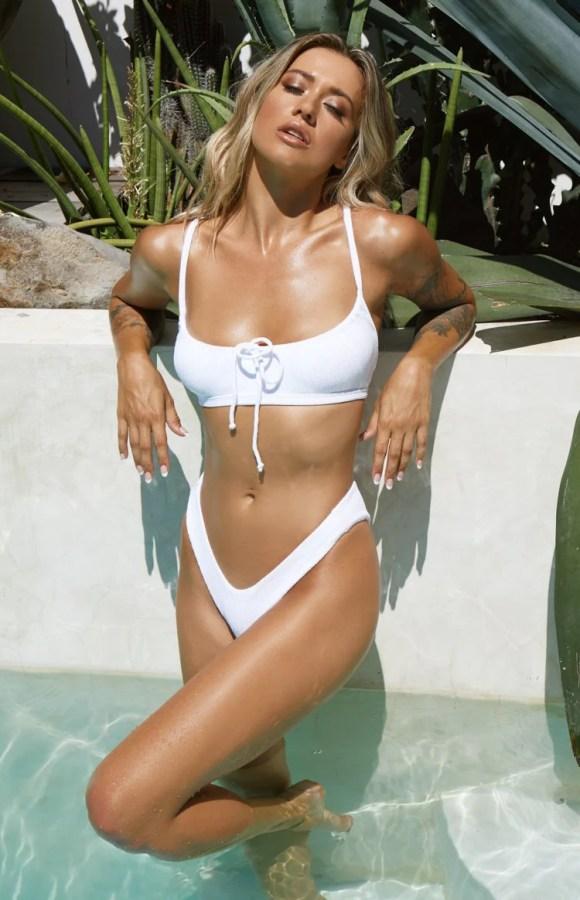 9.0 Swim Palms Bikini Top White