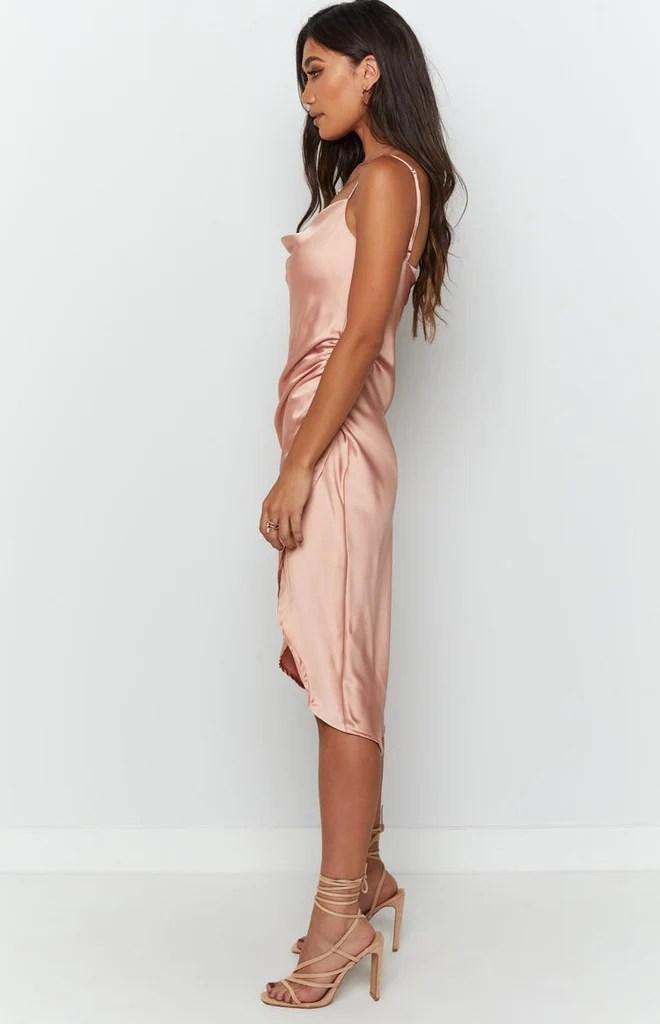 Zariah Slip Midi Dress Peach 6