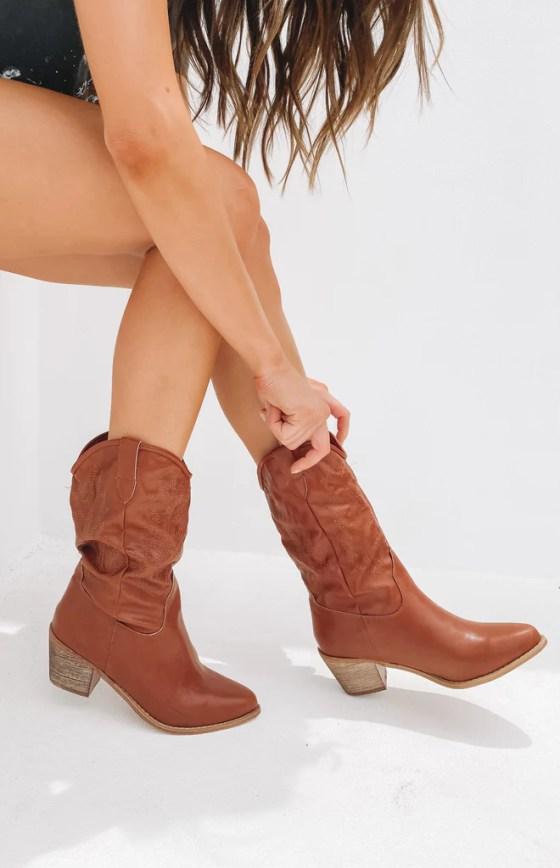 Saint Cowboy Boots Rust 2