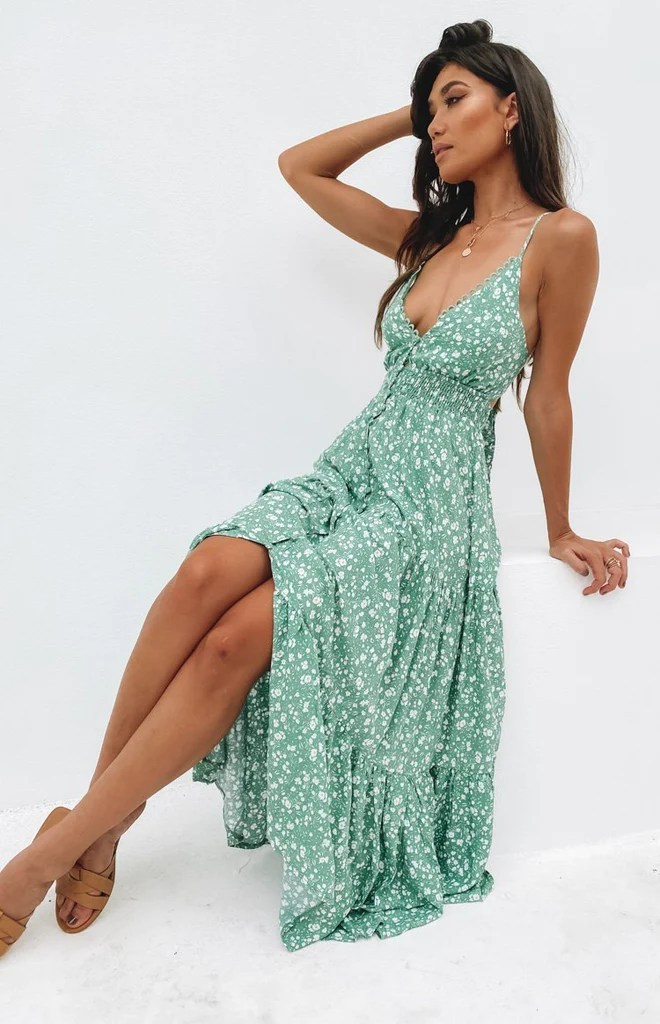 Varro Maxi Dress Green 3