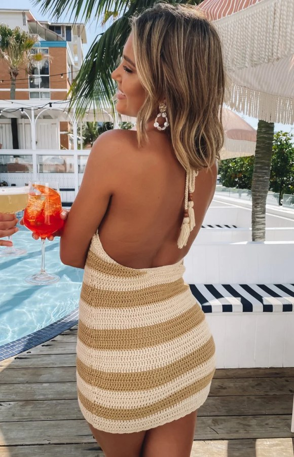9.0 Swim Zola Crochet Dress Stripe