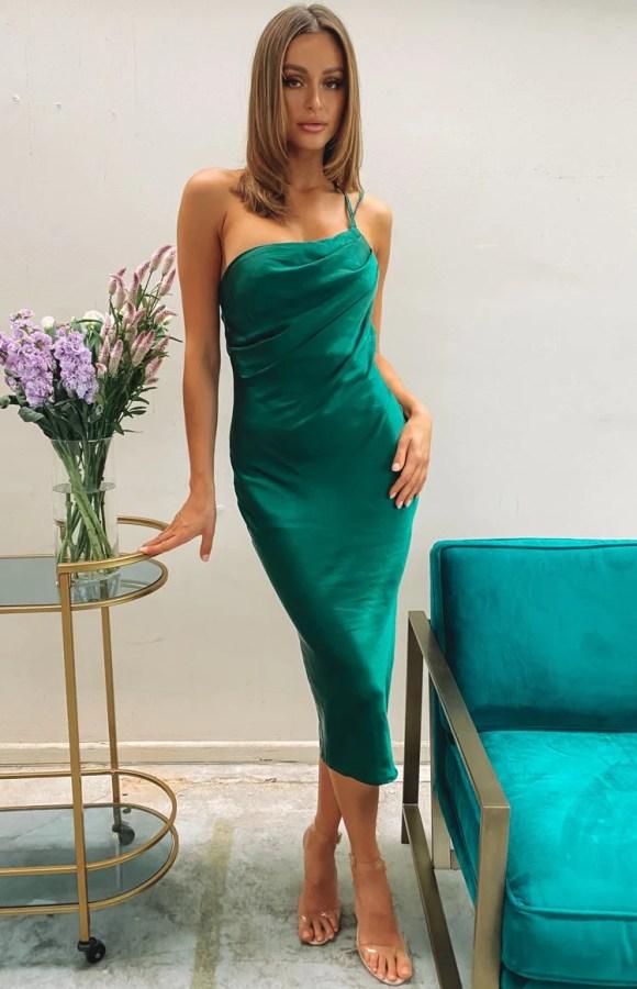 Adella Midi Dress Emerald