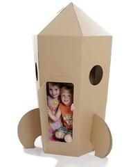 Paperpod Cardboard Rocket Play House