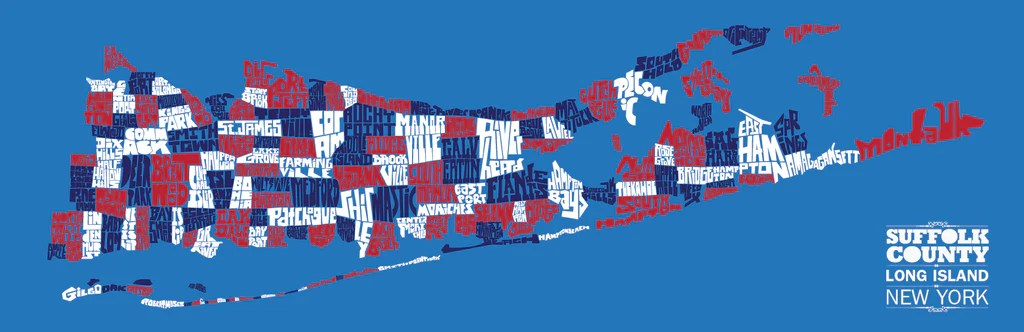 Map Suffolk County Ny Towns