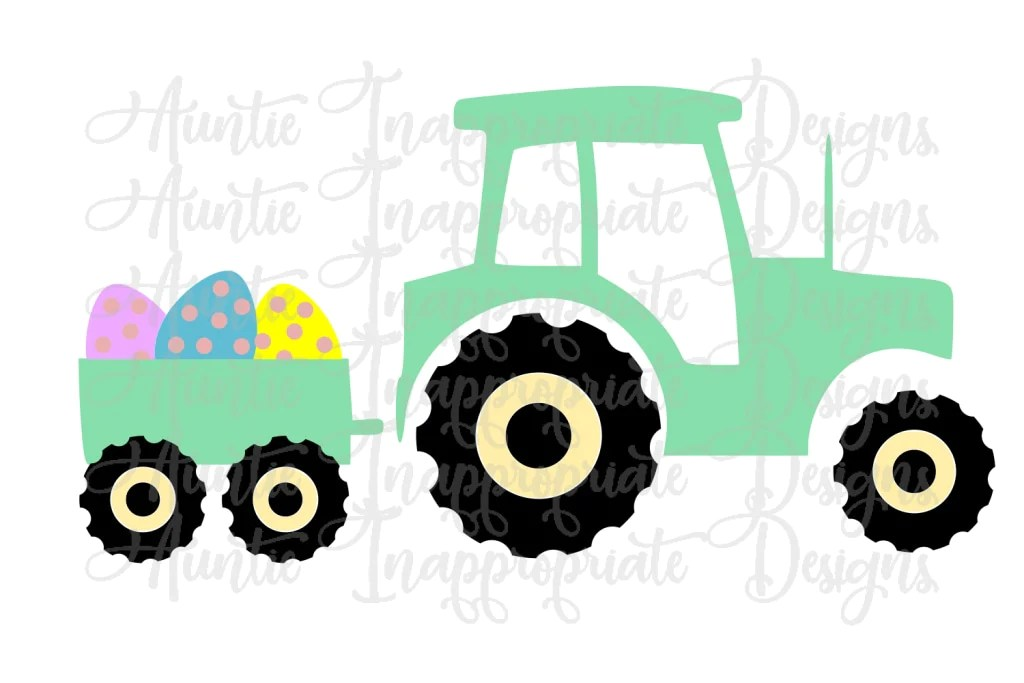 Download Easter Tractor Digital SVG File - Auntie Inappropriate Designs