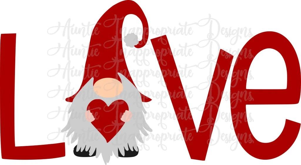 Download Love gnome Valentine Digital SVG File - Auntie ...