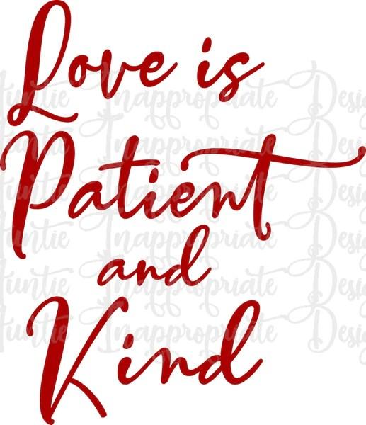 Download Love is patient and kind Valentine Digital SVG File ...