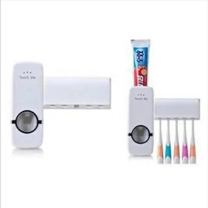 Distributeur Dentifrice Range Brosse 1panier