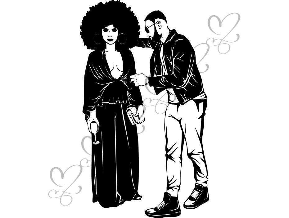 Download Black Couple Life Goals SVG Relationship African American ...