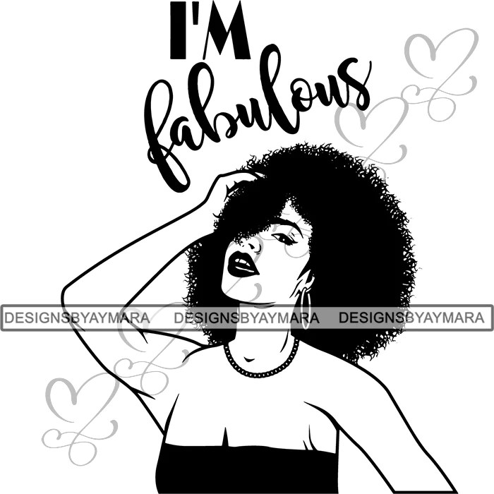Download Afro Woman SVG Free Cut Files For Silhouettes and Cricut ...