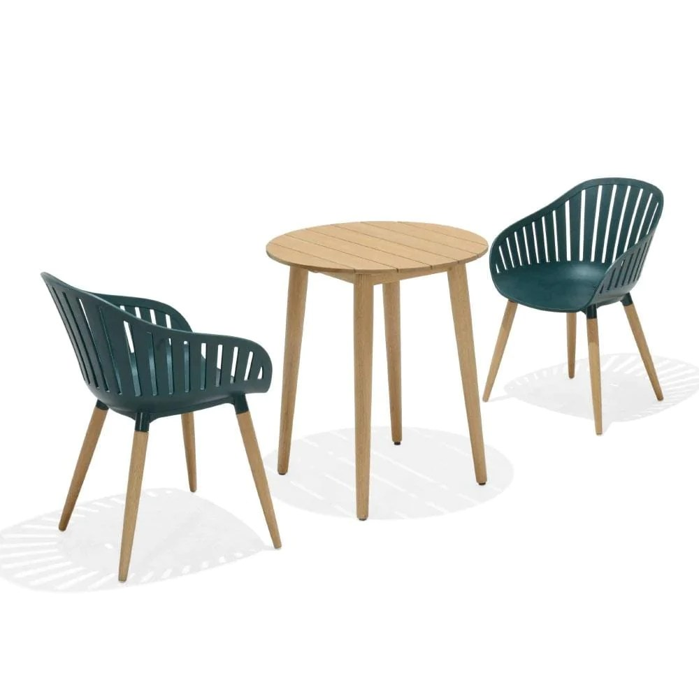 marina outdoor lifestyle garden recycled plastic patio chairs table setting