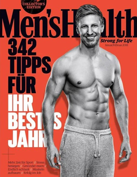 The cover of a Men's Health Magazine with Nico Airone the head of training for Men's Health on it.